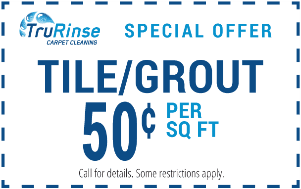 TruRinse Special Offer Coupon - Tile / Grout 50 cents per sq ft