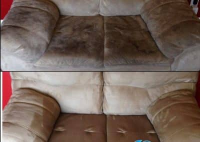 TruRinse - Before and After cleaning upholstery on couch