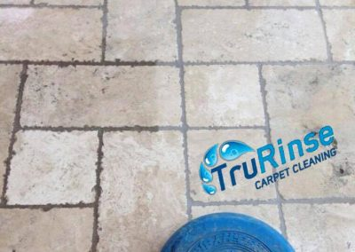 TruRinse - In the middle of cleaning tile & grout