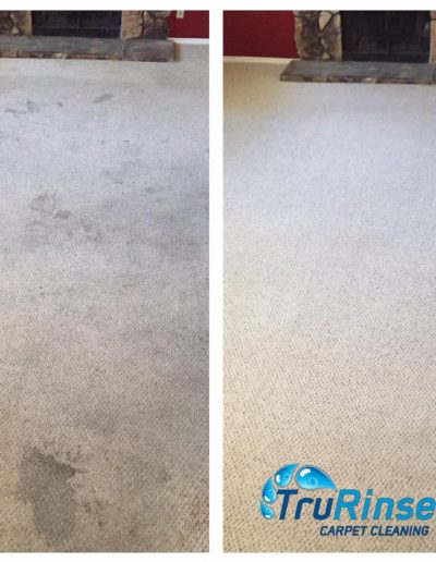TruRinse Carpet Cleaning - Before and after cleaning living room carpet