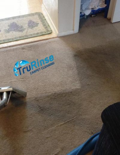 TruRinse Carpet Cleaning - Cleaning entryway carpet