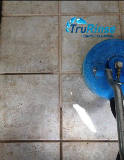 TruRinse Carpet Cleaning - Cleaning tile and grout