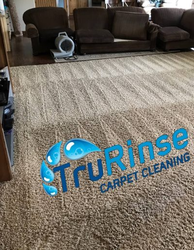 TruRinse Carpet Cleaning - Picture after a true professional carpet cleaning