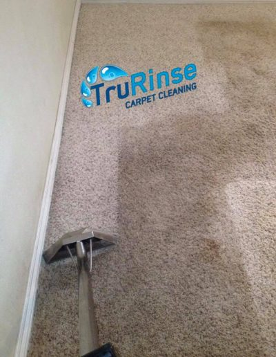 TruRinse Carpet Cleaning - Truly cleaning and rinsing this customers carpet