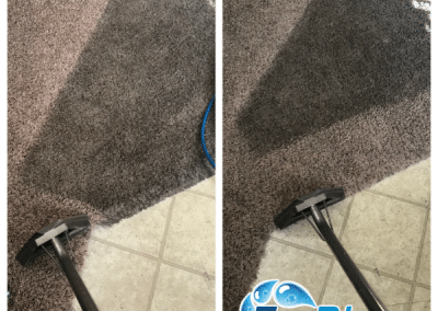 TruRinse showing carpet cleaning progress