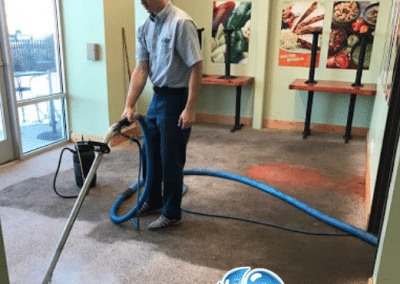 Commercial carpet cleaning job - TruRinse