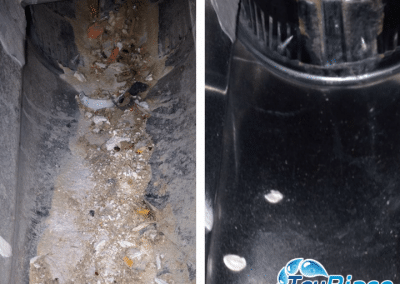TruRinse - Before and after air duct cleaning