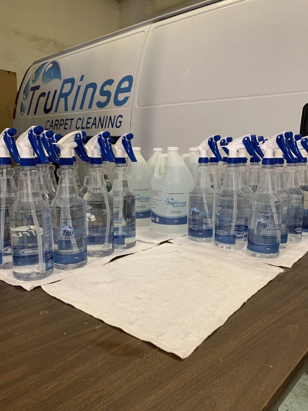TruRinse spotter and bottles and Gallons in utah county